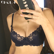 New Hollow Sexy Bra Blue Ultrathin Underwear Plus Size C D Cup Women Transparent Bras Lace Lingerie Gray Brassiere Embroidery