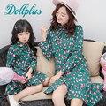 2017 мама и дочь платье семья соответствия мать мода печати лук мать и дочь одежда платье летнее платье