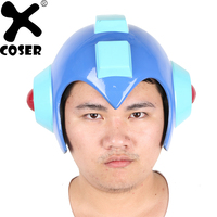 XCOSER New Arrival Game Cosplay Props Full Head Half Face Helmets Masks Halloween Dance Party Cute Blue Cosplay Helmet Accessory
