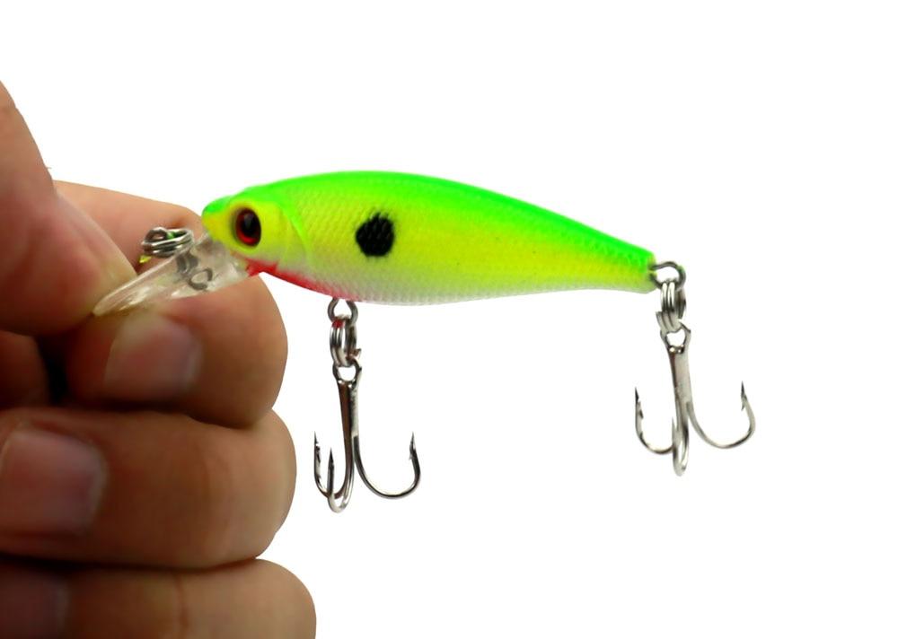 Новое Прибытие, стиль 4 цветов 6.5 СМ/5 Г Прозрачный лазерный Минноу прикормы, рыбалка жесткий приманку, 100 шт./лот, бесплатная доставка