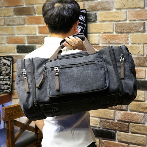 Xiao.p Vintage military Canvas men travel bags Carry on Luggage bags Men Duffel bags travel tote large weekend Bag Overnight Lahore