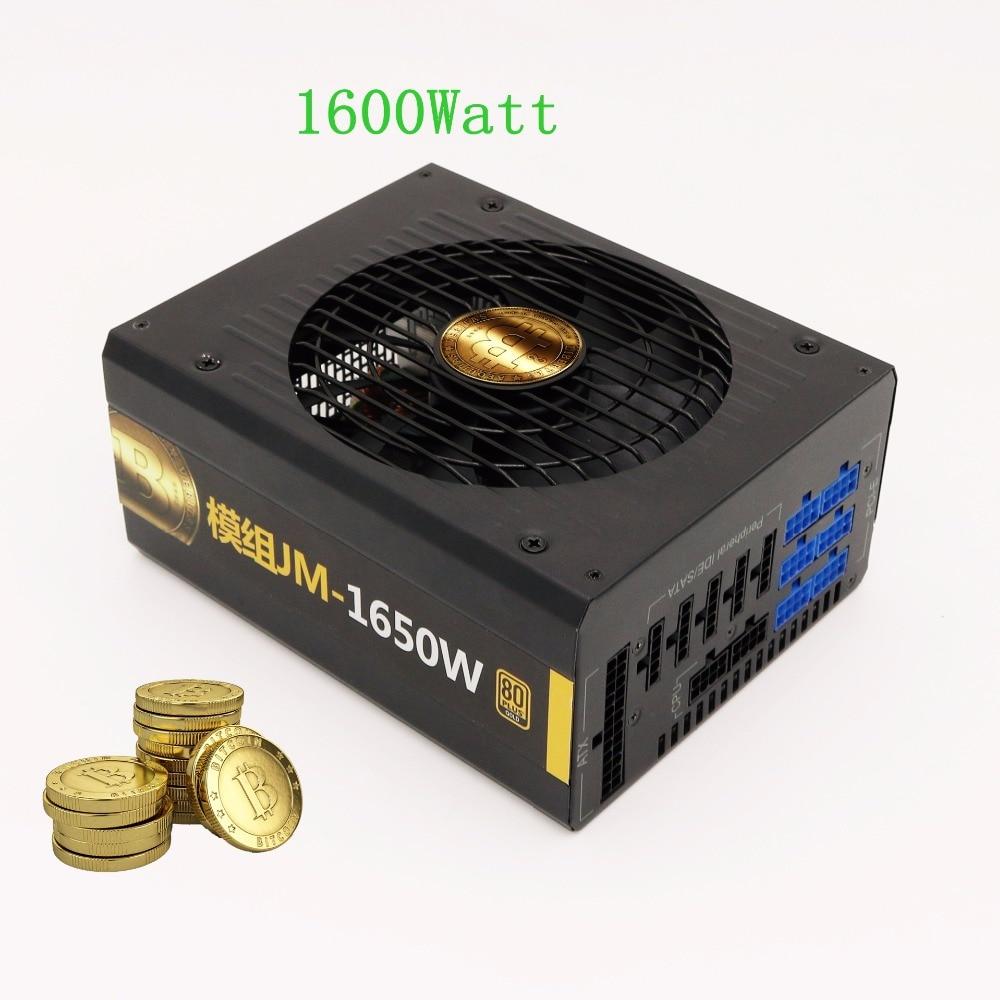 Ethereum miner Asic Bitcoin Miner power Supply 1600Watt Power Supply for PC desktop ATX 12V psu for RX470/480 R9 380/390 R570