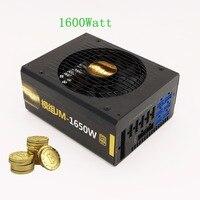 Ethereum Miner Asic Bitcoin Miner Power Supply 1600Watt Power Supply For PC Desktop ATX 12V Psu