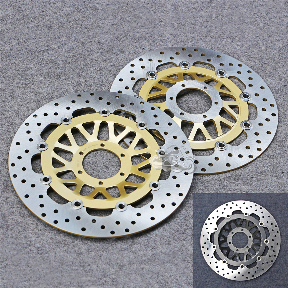 Floating Front Brake Disc Rotor For Motorcycle Honda CBR600F VFR800 CBR900RR XL1000 New 296mm motorcycle front wavy floating brake disc rotor for honda cbr600f4i cbr600f cb919f vtx1800 vtx1800f vtx1800n vtx1800t