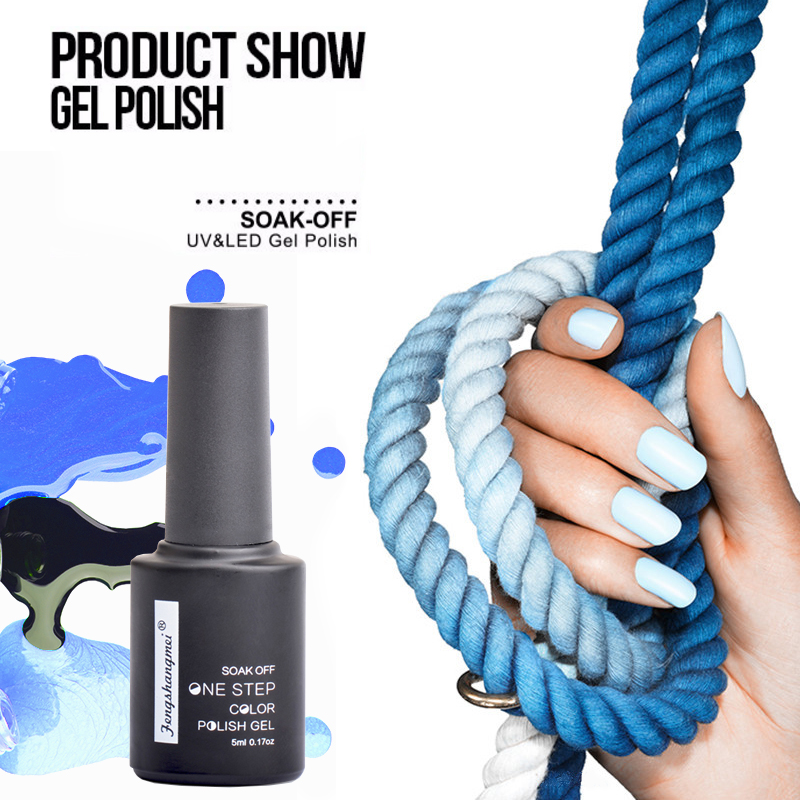 Fengshangmei One Step Gel Polish Home Use DIY Long Time Lasting Nail Gel Polish Small Packing Color 01 to 30 5ml
