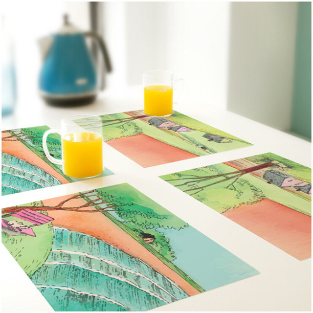 CFen A\u0027s PVC Dinner table Placemat waterproof Non-Slip Table Setting placemats for table bowl  sc 1 th 225 & CFen A\u0027s PVC Dinner table Placemat waterproof Non Slip Table Setting ...