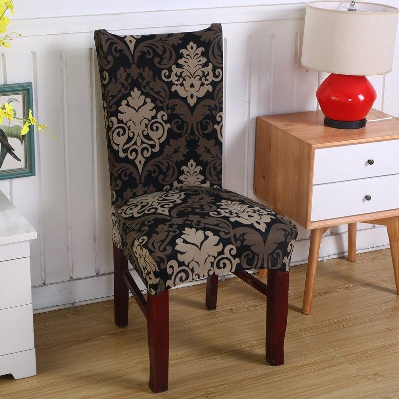 הדפסת פרחים נשלף הכיסא כיסוי למתוח - טקסטיל בית