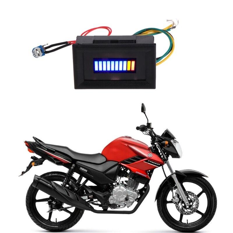 عداد مقياس الوقود مؤشر 12 V العالمي للدراجات النارية سيارة النفط مقياس متر LED النفط qyh
