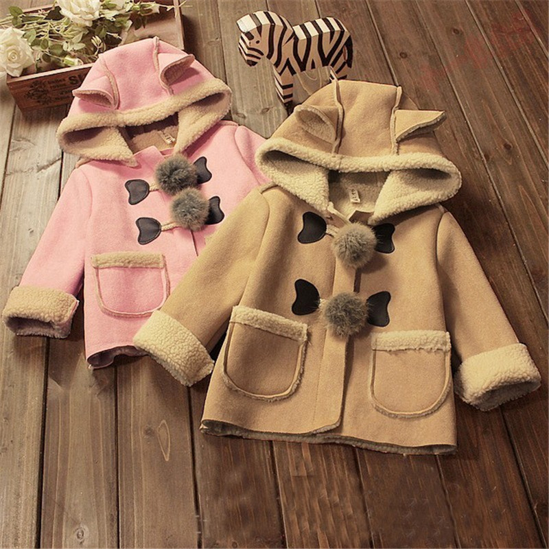 BibiCola bébé filles de noël veste plus automne hiver parkas Enfants survêtement enfants chaud tenues de fourrure épaissir manteaux 2-5Y