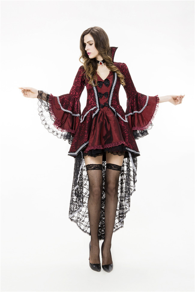Halloween Scary Costumes Cosplay Vampire Queen Deluxe