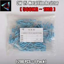 2W Watt 1% (200pcs/lot) Metal Film Resistor  560K 620K 680K 750K 820K 910K 1M Ohm