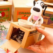 漫画ロボット犬貯金箱マネーバンク自動ストールコイン貯金箱マネーボックス保存マネーボックス子供のためのギフト犬コイン銀行貯金箱