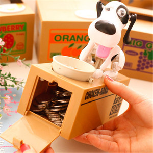 Cartoon Robotic Dog Money Box Money Bank Automatic Stole Coin Piggy Bank Money Saving Box Moneybox Gift For Kid Doggy Coin Bank(China)