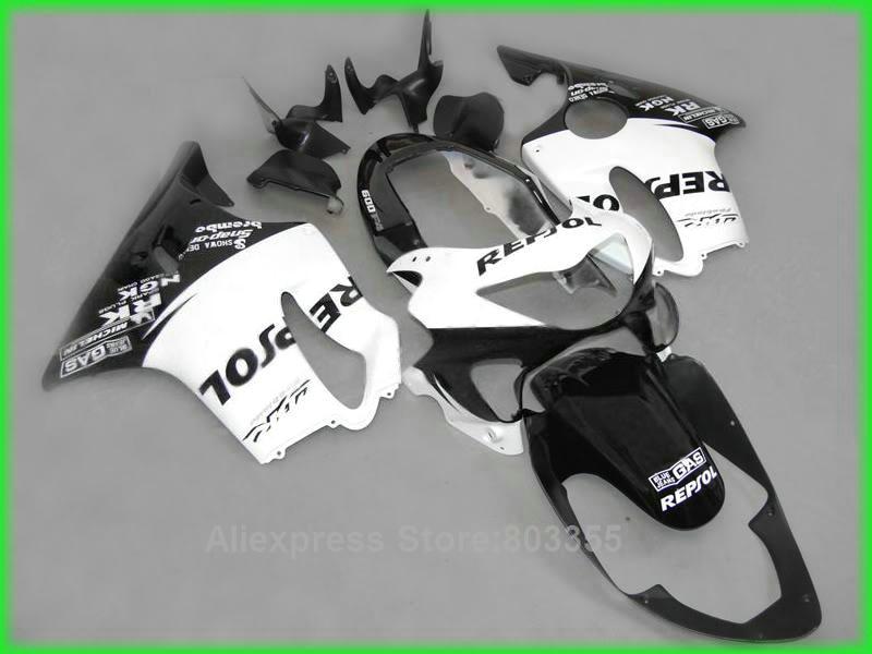 Repsol kits For Honda CBR600 F4 1999 2000 / 99 00 ( white black ) cbr 600 Injection Mold fairing kit xl68