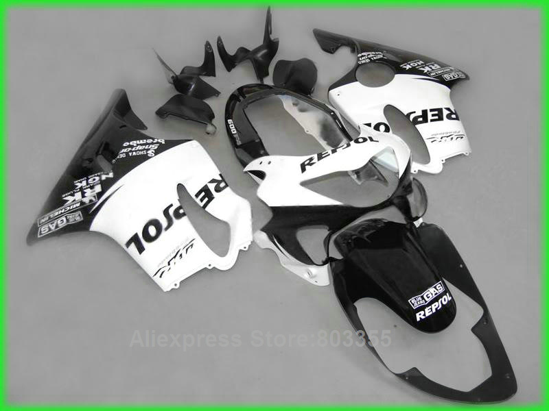 Repsol kits For Honda CBR600 F4 1999 2000 / 99 00 ( white black ) cbr 600 Injection Mold fairing kit xl68 custom motorcycle injection fairing kits for honda 1999 2000 cbr600f4 cbr600 f4 cbr 99 00 600 f4 red blue bodyworks fairngs kit