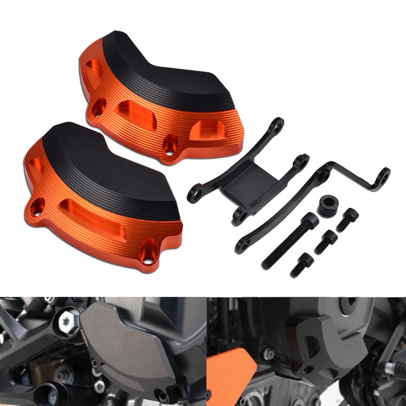 Left & Rigt Side Engine Case Slider Protector Guard For KTM 790 Duke 2018 2019 790Duke Motorcycle Accessories Parts-in Covers & Ornamental Mouldings from Automobiles & Motorcycles