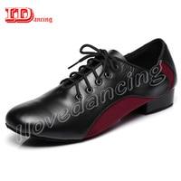 Ballroom Men Shoes Mens Ballroom Dance Shoes genuine leather+PU Latin Dancing Shoes For Men Tango Waltz Male Shoes JuseDanc