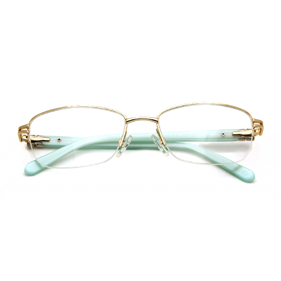 Märkesdesigner Kvinnor Glasögonramar Diamond Half Frame Women's - Kläder tillbehör - Foto 3