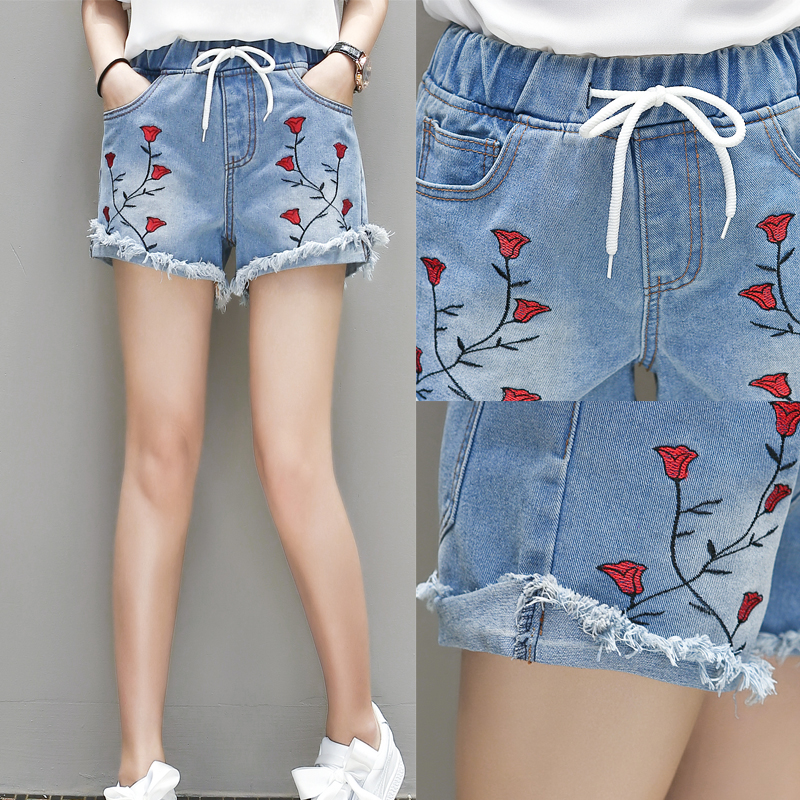 Compare Prices on Embroidered Denim Shorts- Online Shopping/Buy ...