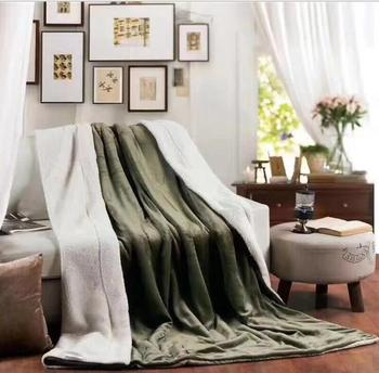 High quality Sherpa Double layer Blanket Thick Soft Throw Blanket on Sofa Bed Plane Travel Plaids Adult Home Textile Cobe