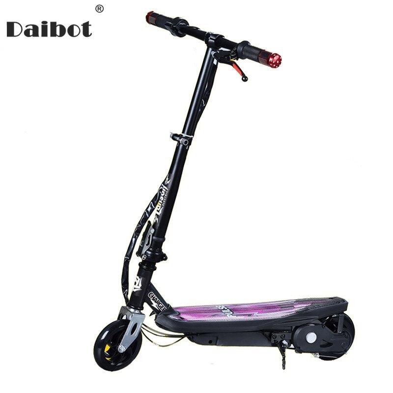 Daibot Électrique Scooter Enfants Deux Roues Scooters Électriques 24 v Brosse Moteur 120 w Pliant Mini Portable Trottinette Pour adulte