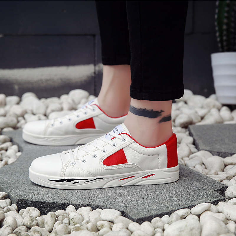 2018 Spring/autumn New Style Canvas Shoes Korean Breathable Leisure Cloth Students Size Plus 39-44 5