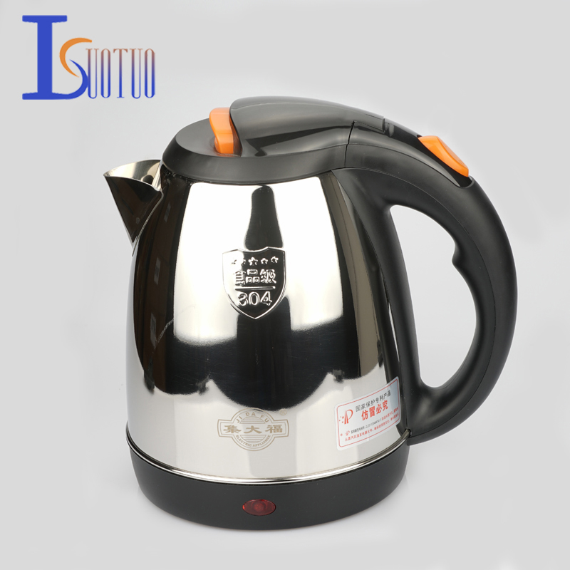 JDC-2000E Stainless Steel Cordless Electric Kettle 220V Electric Water Kettles 1500W 360 Degree Rotational Base Kett 2L jdc 1000 1015 38