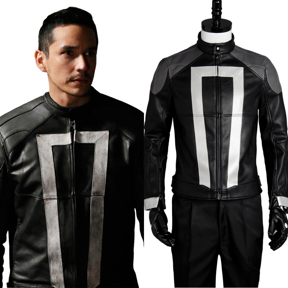 New Original Agents of Shield S.H.I.E.L.D Ghost Rider Jacket Gloves New Original 100% Cosplay Costume Halloween Uniform Outfit