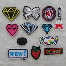 hot sell cartoon hot melt adhesive applique embroidery patches stripes DIY ornamentation accessory patch 1pcs sell C910-C852(China)