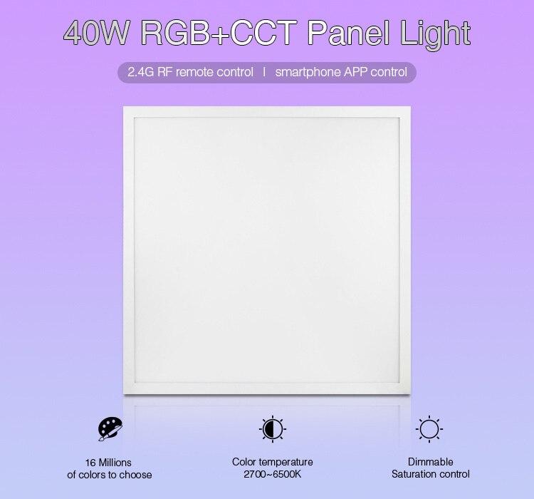 Milight FUTL01 40 Вт RGB + CCT светодиодные панели 2,4 г беспроводной пульт дистанционного управления Смартфон приложение управление