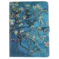 Blue Tree Feathers Pattern PU Leather Full Body Case with Stand for iPad Air 2