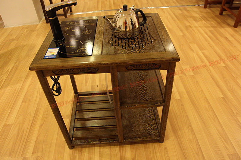 Wenge wood furniture Chinese mahogany tea table with a cooker antique tea  table tea table a