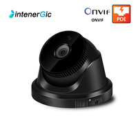 Black 5MP Dome Video Surveillance Camera Waterproof Outdoor Home Security POE ip Camera Network NVR HD ONVIF IP Night Vision