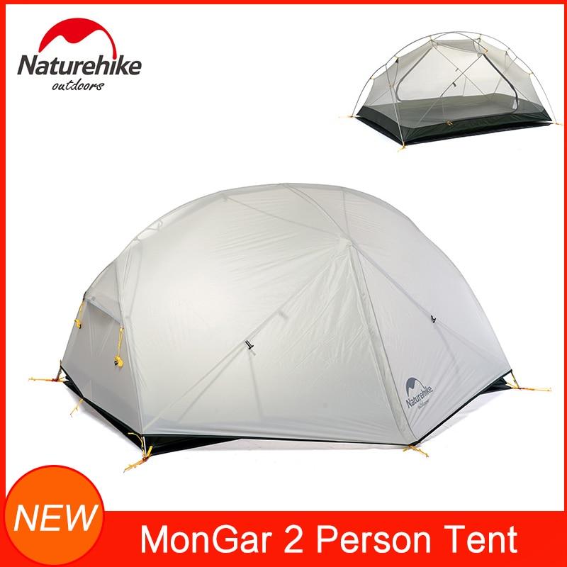 Naturehike Mongar 3 Saison Tente Camping 20D Nylon Fabic Double Couche imperm/éable Tente pour 2 Personnes NH17T007-M