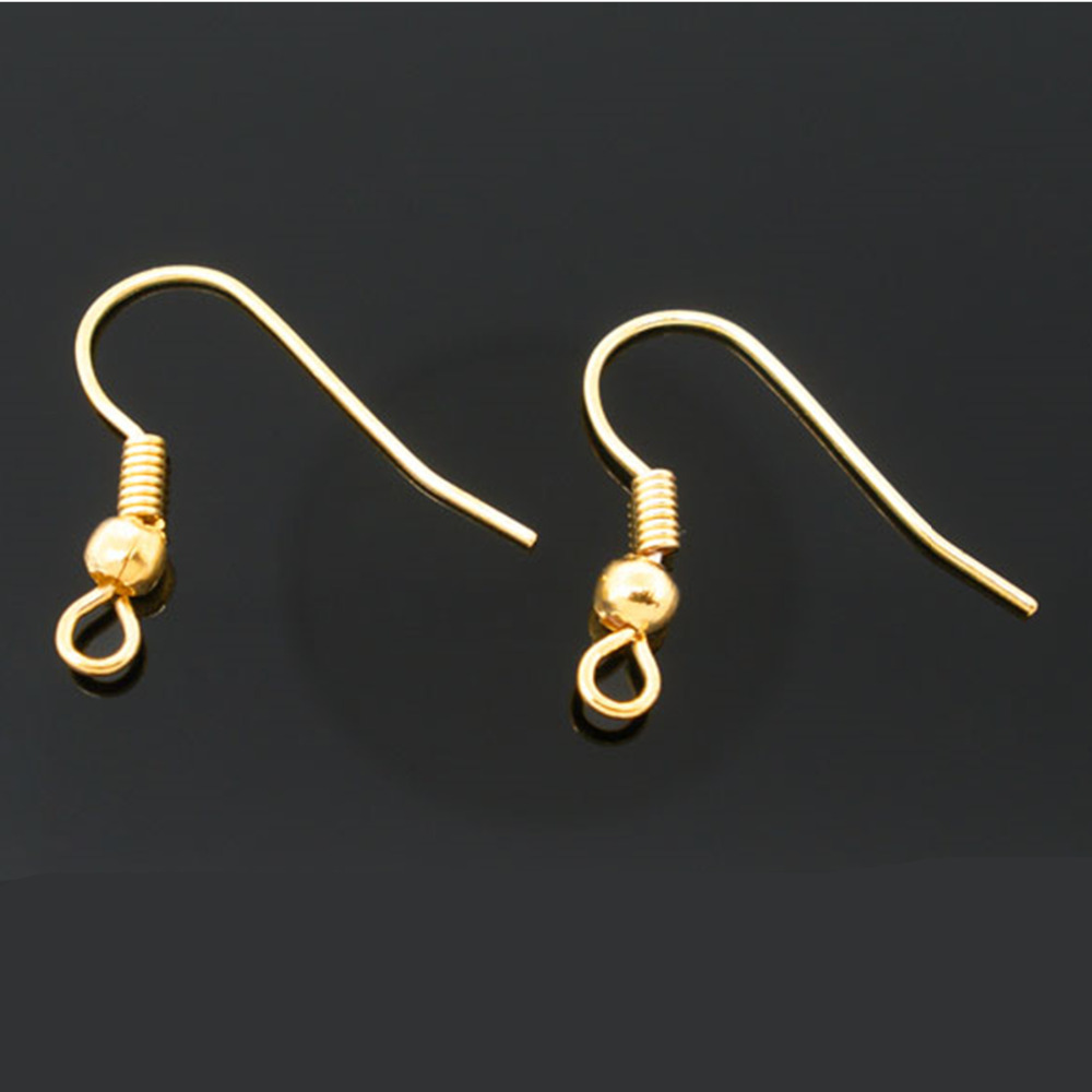 DoreenBeads Zinc metal alloy Earring Components Earring Findings Twist Gold color 18.0mm( 6/8) x 18.0mm( 6/8), 54 PCs