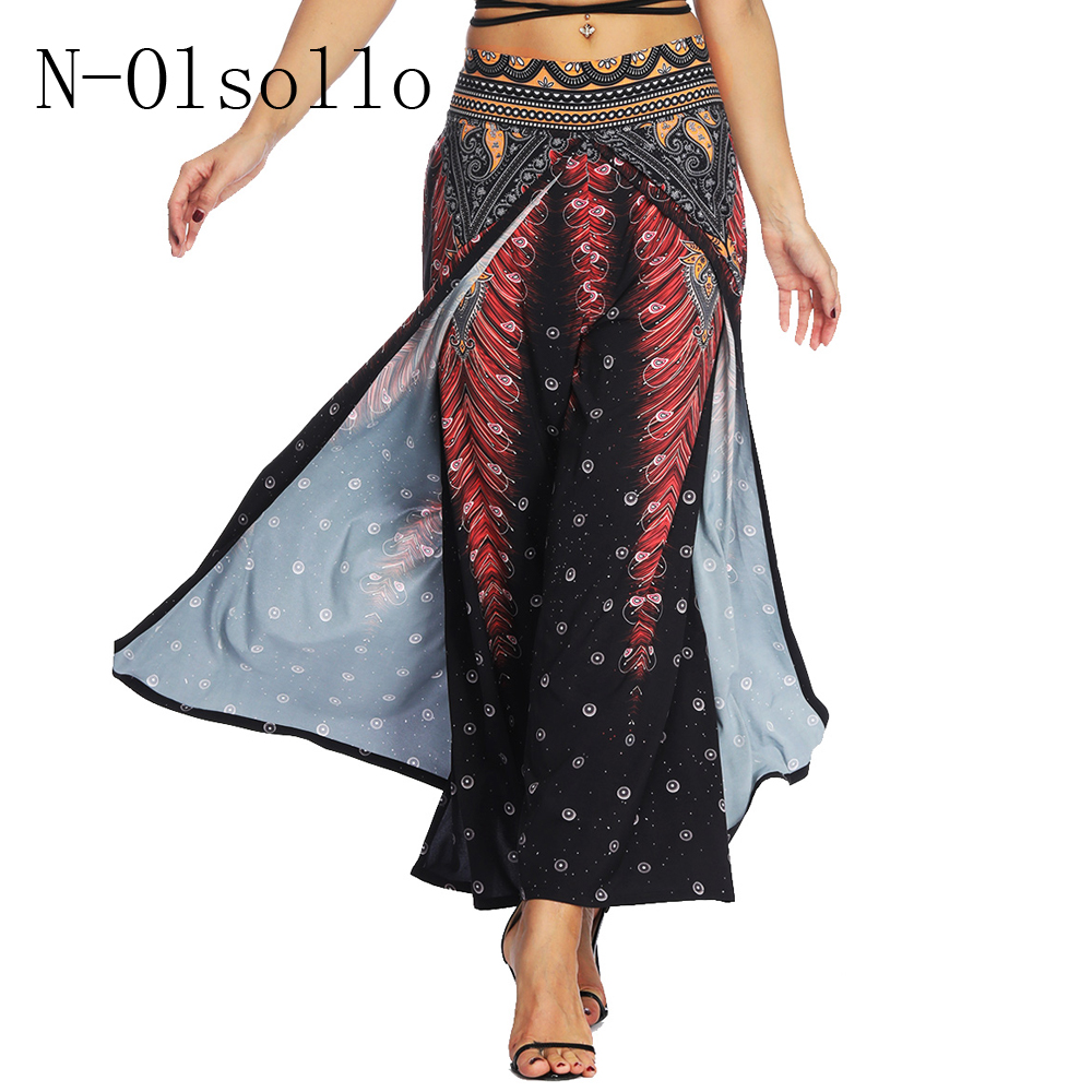 Women Ladies Italian Stripe Wide Leg Flared Palazzo Summer Beach Trousers Pants