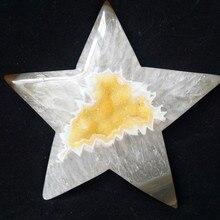 1 pc Doğal taşlar ve kristaller cristal yıldız akik kristal küme ev dekor palm taş çok güzel
