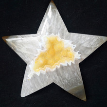 1pc Natural stones and crystals cristal star agate crystal cluster home decor palm stone  very beautiful