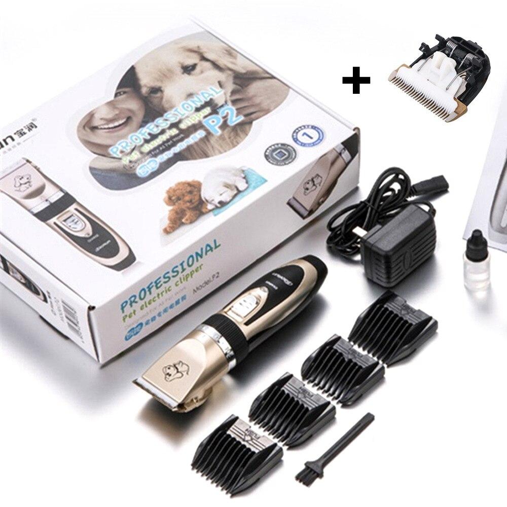 BaoRun Professionelle Haustier Hund Katze Haar Trimmer Wiederaufladbare Tiere Clipper Rasierer Elektrische Schere Haare Schneiden Maschine