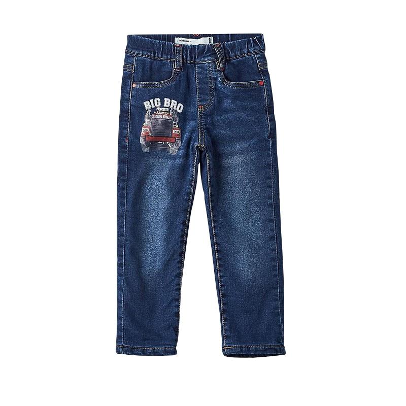 Jeans MODIS M182D00189 for boys kids clothes children clothes TmallFS new denim dress jeans jacket 2pcs suits belt girls summer children s models denim vest jeans for girls clothes jeans fit 2 6y