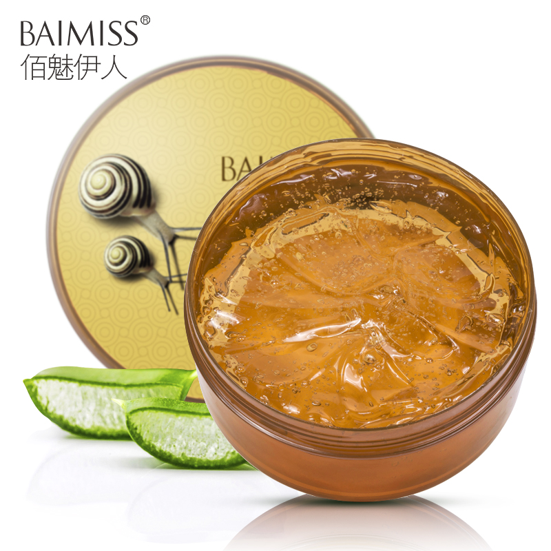 BAIMISS 300g Snail Serum Aloe Vera Gel Face Cream Skin Care Repair Acne Treatment Blackhead Remover Scar Removal Moisturizing