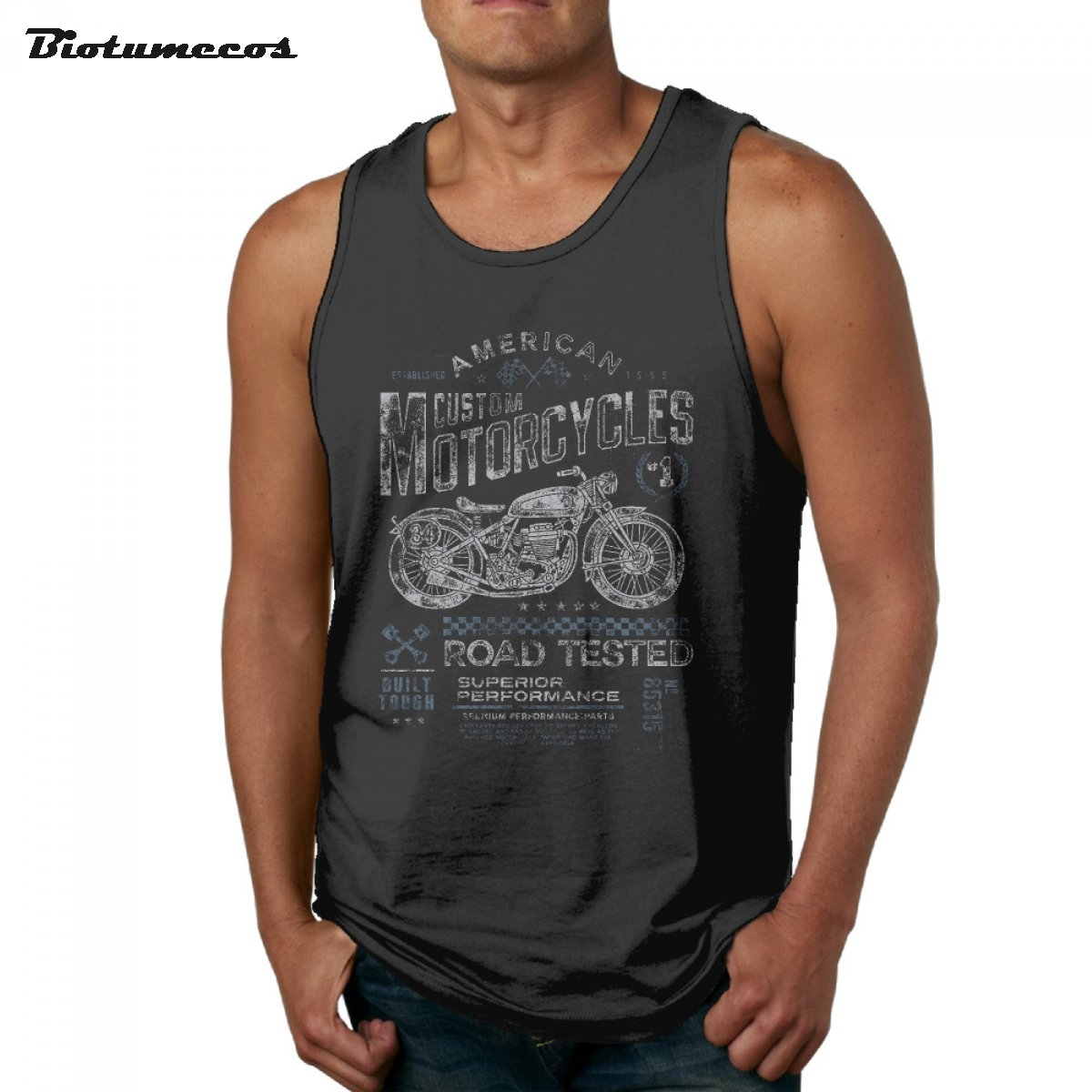 Men Tank Tops Fashion Brand Sleeveless T Shirt American Custom