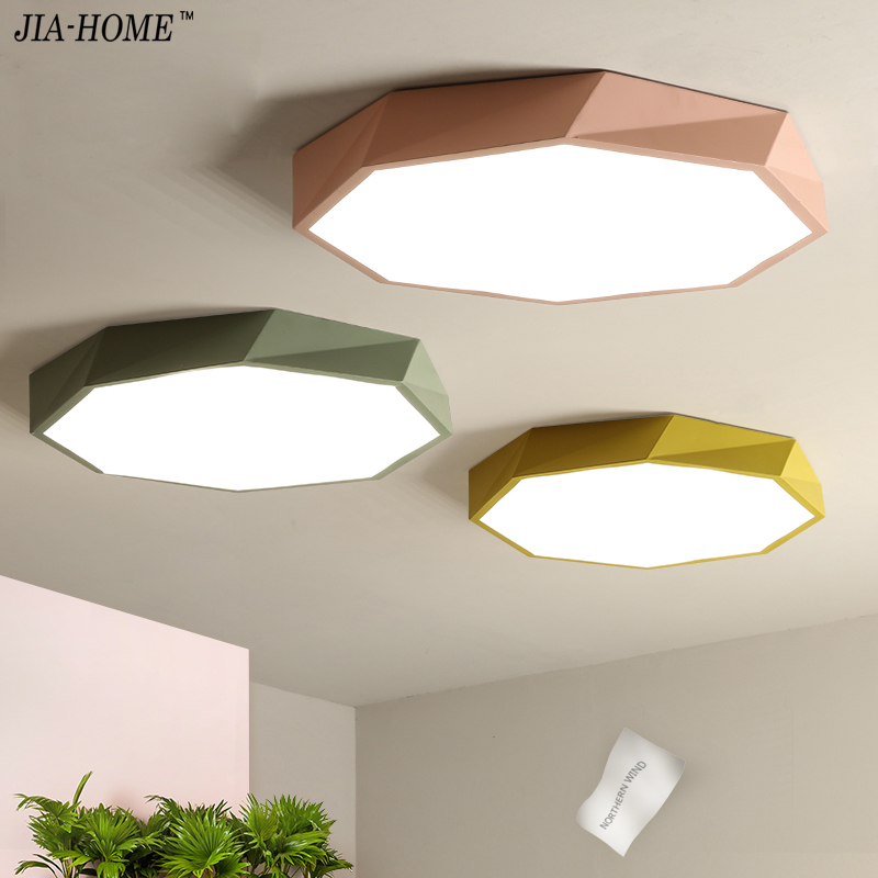 Personality Ceiling Lights Macaron five color Indoor Lighting Ceiling Lamp Fixture For Living Room Bedroom only