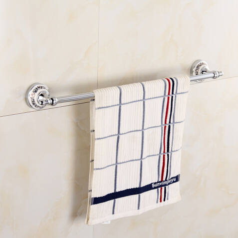 Stainless Steel 304 single towel bar bathroom towel rack with porcelain chorme towel holder stainless steel bathroom towel rack rotation activities bar single pole double hanging three bathrooms