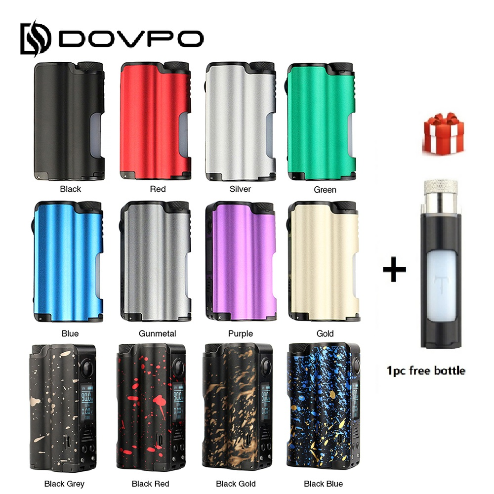 D'origine DOVPO Dessus TC Squonk MOD 90 W avec 10 ml Squonk Bouteille Aucun 21700/18650 Batterie 0.96 Pouces OLED Écran vs Istick Pico