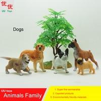 Hot toys: Golden Retriever, Bulldog, Chinese shar pei, Collie, boxer dog Simulation model Animals kids toys educational props
