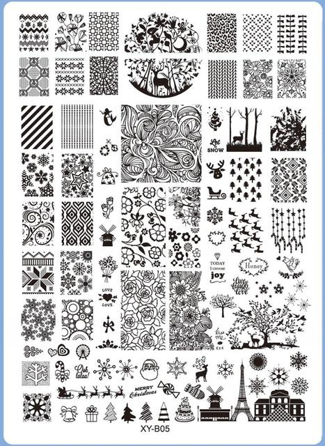 1pcs 25 18cm Nail Sting Plates Orted Designs Diy Image Acrylic Art Manicure Templates