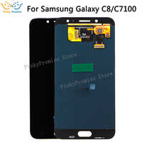 "Super AMOLED For SAMSUNG GALAXY C8 LCD C7100 Display Touch Screen Digitizer Assembly C710F Replacement For 5.5"" SAMSUNG C8 LCD"