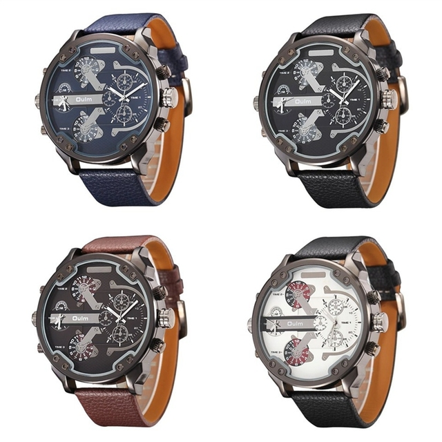 Oversized Men's Big Watch Luxury Brand Famous Unique Designer Quartz Watch Male Large Watches Men Oulm relogio masculino