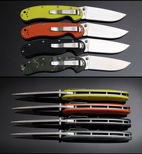 FBIQQ high-end NEW RAT Folding Knife D2 Blade Steel With G10 Handle Utility Tactical Camping Pocket Survival Knives+Gift grindst